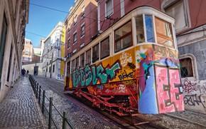 Картинка Portugal, Lisbon, funicular