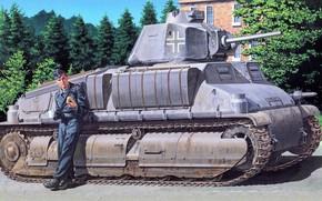 Картинка Танк, Французский, Средний Танк, Бронетехника, Трофейный, S35, Somua S35