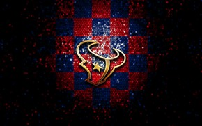 Картинка wallpaper, sport, logo, NFL, glitter, checkered, Houston Texans