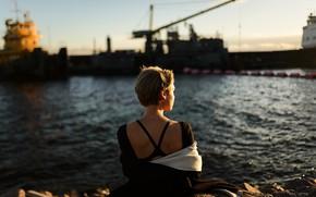 Картинка девушка, порт, у воды, Aleks Five