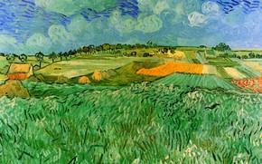 Картинка поля, Винсент ван Гог, Auvers, Plain Near