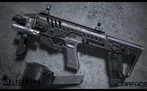 Картинка рендеринг, оружие, gun, weapon, render, custom, глок, glock, Warface, штурмовая винтовка, assault Rifle, Варфейс, Blackwood …
