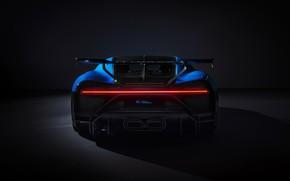Картинка Bugatti, вид сзади, гиперкар, Chiron, 2020, Pur Sport