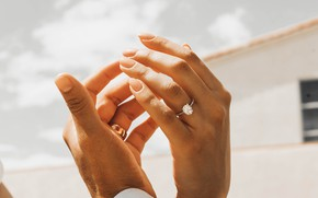 Картинка любовь, кольца, руки