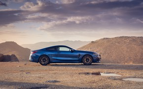 Картинка BMW, вид сбоку, Coupe, Competition, UK-Spec, 2019, BMW M8, F92