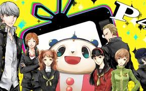 Картинка фон, игра, аниме, персонажи, Persona 4, Персона