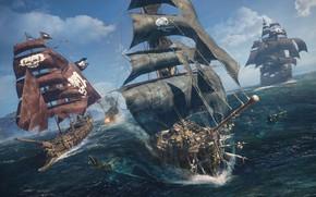 Картинка вода, океан, корабли, Череп и кости, E3 2018, Skull & Bones