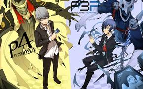 Картинка существа, парни, Persona 3, Персона