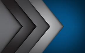 Картинка линии, фон, углы, abstract, blue, lines, fon, gray, corners