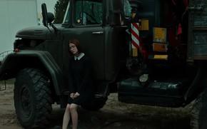Картинка девушка, платье, грузовик, Вячеслав Павловский