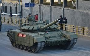 Картинка ОБТ, Т-72 Б3, танк ВС России, репетиция Парада Победы