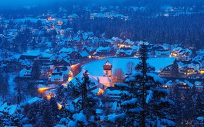 Картинка зима, Германия, панорама, Баден-Вюртемберг, Хинтерцартен