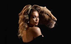 Картинка девушка, львица, The Lion King, Король лев
