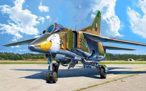Картинка СССР, истребитель-бомбардировщик, многоцелевой истребитель, Michal Reinis, Чехословакия, МиГ-23БН