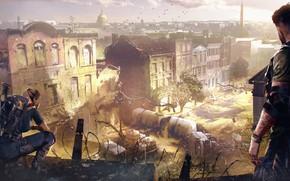 Картинка город, война, разруха, вашингтон, Ubisoft, агенты, Tom Clancy's The Division 2, The Division 2