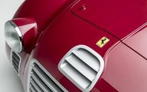 Картинка Ferrari, Фары, Classic, 1947, Classic car, Значок, Sports car, Спортивный автомобиль, Ferrari 125 Sport