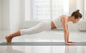 Картинка exercise, workout, yoga, leggings, motivation, pilates, sexy ass., sexy blonde girl, activewear, fitnes women, whihe …