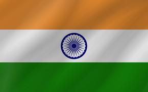 Картинка Flag, India, Wave, Indian Flag, Flag Of India