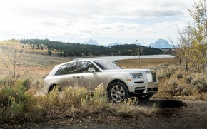 Картинка Rolls-Royce, бездорожье, 2018, Cullinan