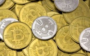 Картинка размытие, лого, logo, монеты, coins, bitcoin, биткоин