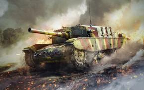 Картинка War Thunder, война, танк