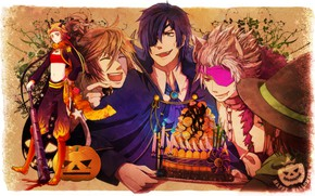 Картинка парни, хеллоуин, Sengoku Basara, Эпоха Смут