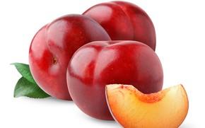 Картинка фрукт, сливы, листики