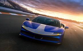 Картинка Ferrari, суперкар, феррари, трек, Spider, 2021, SF90
