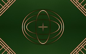 Картинка металл, зеленый, фон, градиент, текстура, фигуры