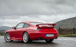 Картинка Red, Road, Sportcar, Porsche 996 GT3