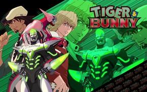 Картинка аниме, арт, персонажи, Котецу, tiger and bunny, Барнаби