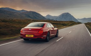Картинка Bentley, на дороге, Flying Spur, 2020, V8, 2021, Flying Spur V8