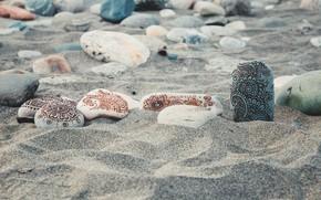 Картинка песок, пляж, камни, спокойствие, позитив, мехенди