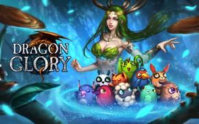 Картинка игра, фэнтези, арт, пет, Dragon Glory, Rena Illusion, Loading screen for Dragon Glory RU