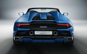Картинка Lamborghini, вид сзади, Spyder, Huracan, 2020, RWD, Huracan EVO