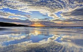 Картинка море, небо, солнце, облака