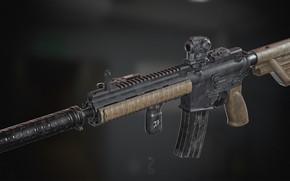 Картинка рендеринг, оружие, винтовка, weapon, render, custom, рендер, 3d art, ar-15, assault rifle, assault Rifle, ар-15, …