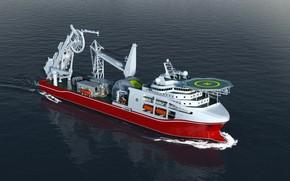 Обои Океан, Море, Техника, Рендеринг, Ship, Vessel, Offshore, Offshore Supply Ship, Supply Ship, Support Vessel, Offshore ...