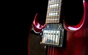 Картинка музыка, гитара, струны, гриф, музыкальный инструмент
