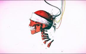 Картинка skull, red, art, Jose Fernandez