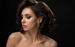 Картинка девушка, макияж, брюнетка, прическа, Serhii Bobyk