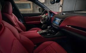 Картинка Maserati, салон, кроссовер, Rosso, Novitec, 2020, Q4, GranSport, Levante S, Esteso V2