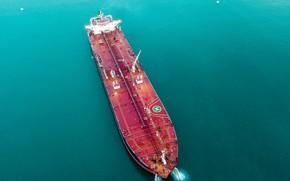 Картинка Океан, Море, Судно, Вид сверху, Палуба, Vessel, Tanker, M/V Belmar, Crude Oil Tanker, Alex Bobrov, ...