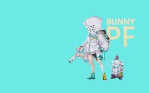 Картинка Минимализм, Кролик, Костюм, Арт, Illustration, Weapon, Peace, Cyborg, Mech, Comic Art, by Ren Wei Pan, …