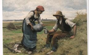 Картинка DUPRE, фермер и жена, MIDDAY BREAK 64, кувшин и кружка
