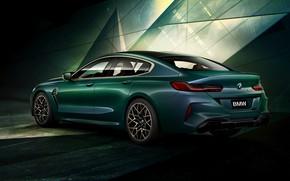 Картинка купе, BMW, задом, First Edition, 2020, 2019, M8, четырёхдверное, M8 Gran Coupe, F93