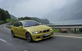 Картинка купе, BMW, E46, BMW M3, на дороге, M3, двухдверное, M3 Coupe