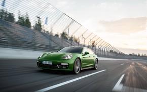 Картинка скорость, Porsche, Panamera, 2018, GTS, Sport Turismo