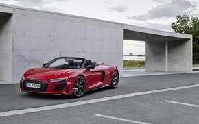 Картинка Audi, Audi R8, Spyder, V10, 2020, RWD