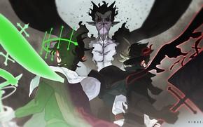 Картинка демон, фэнтези, сражение, Black Clover, Asta, Yuno, Zagred